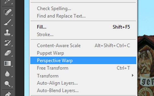 how to use perspective warp photoshop