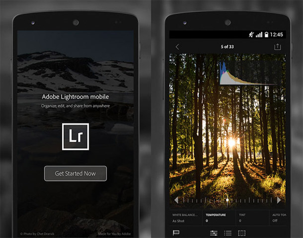 Lightroom mobile теперь и на Android